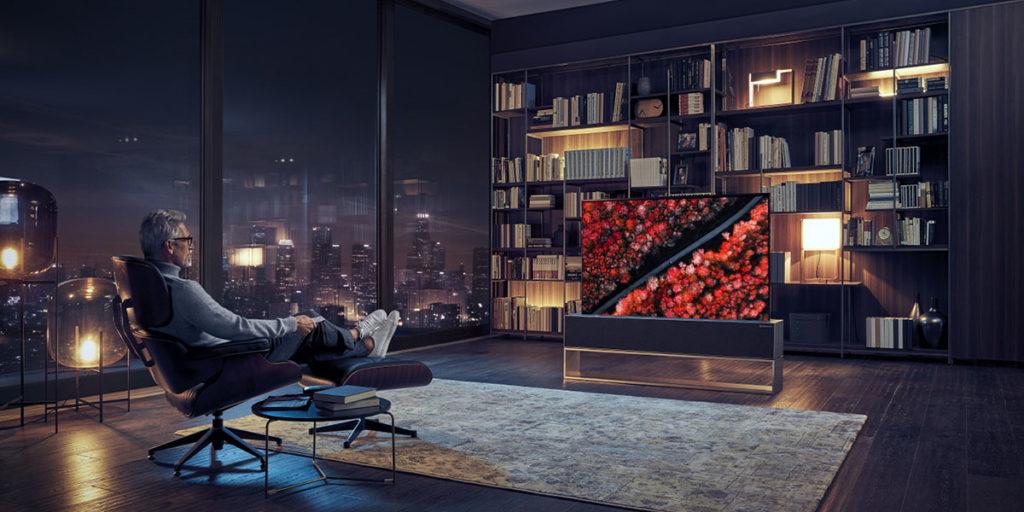 tv oled lg arrotolabile living casa
