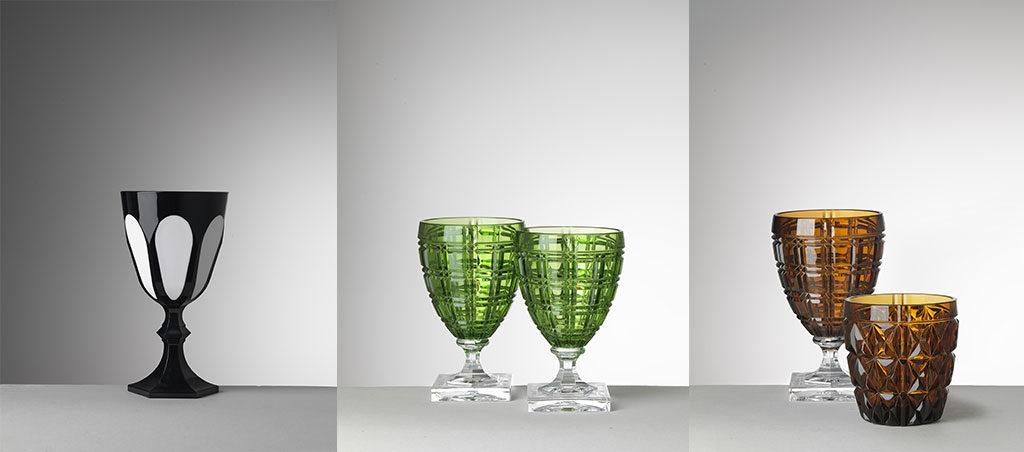 bicchieri e calici cristallo sintetico colorato