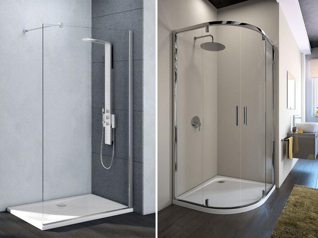 box doccia rettangolare e angolare
