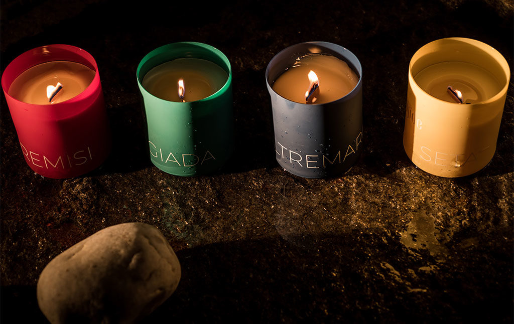 candele profumate casa