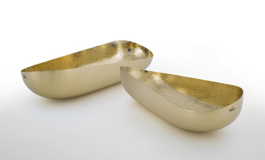 coppa lavorata a mano argento