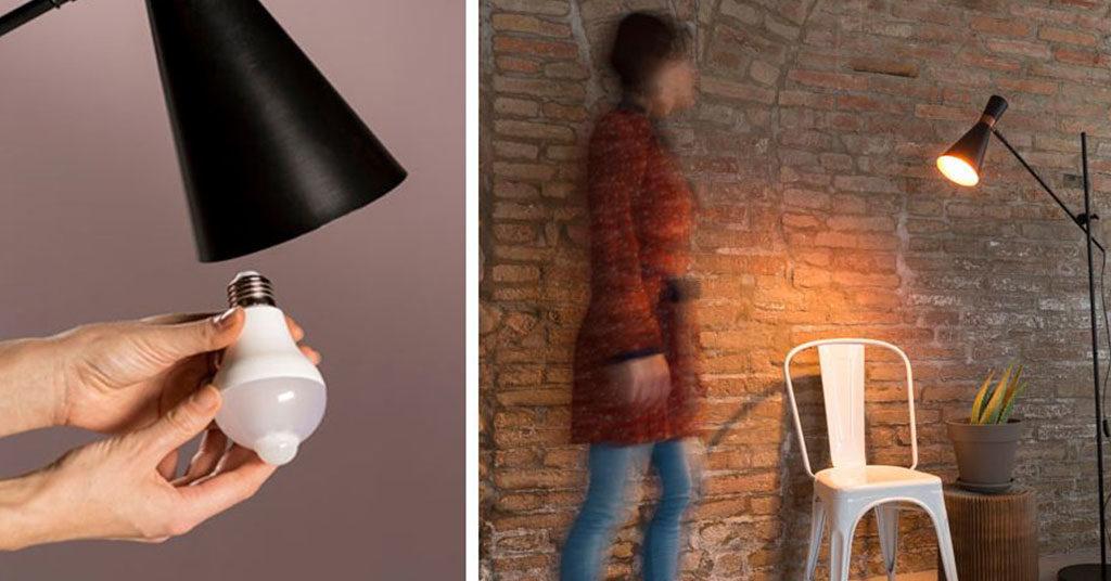 lampadina con sensore di presenza
