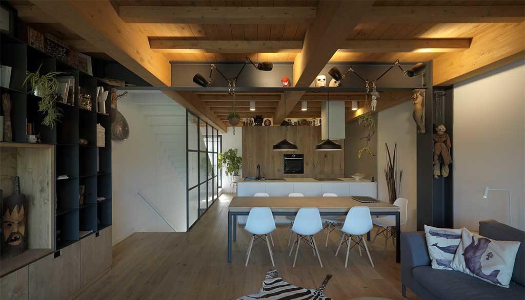 living angolo cucina casa passiva