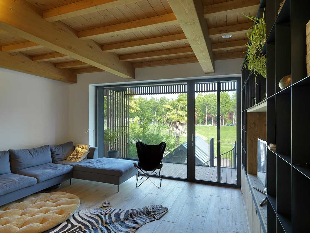 living casa passiva finestra scorrevole