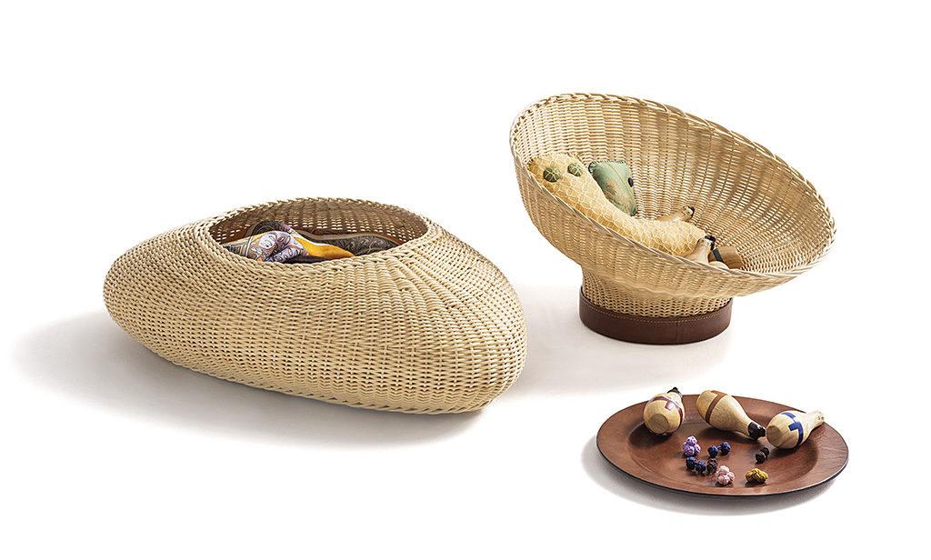 centrotavola vimini piatto legno