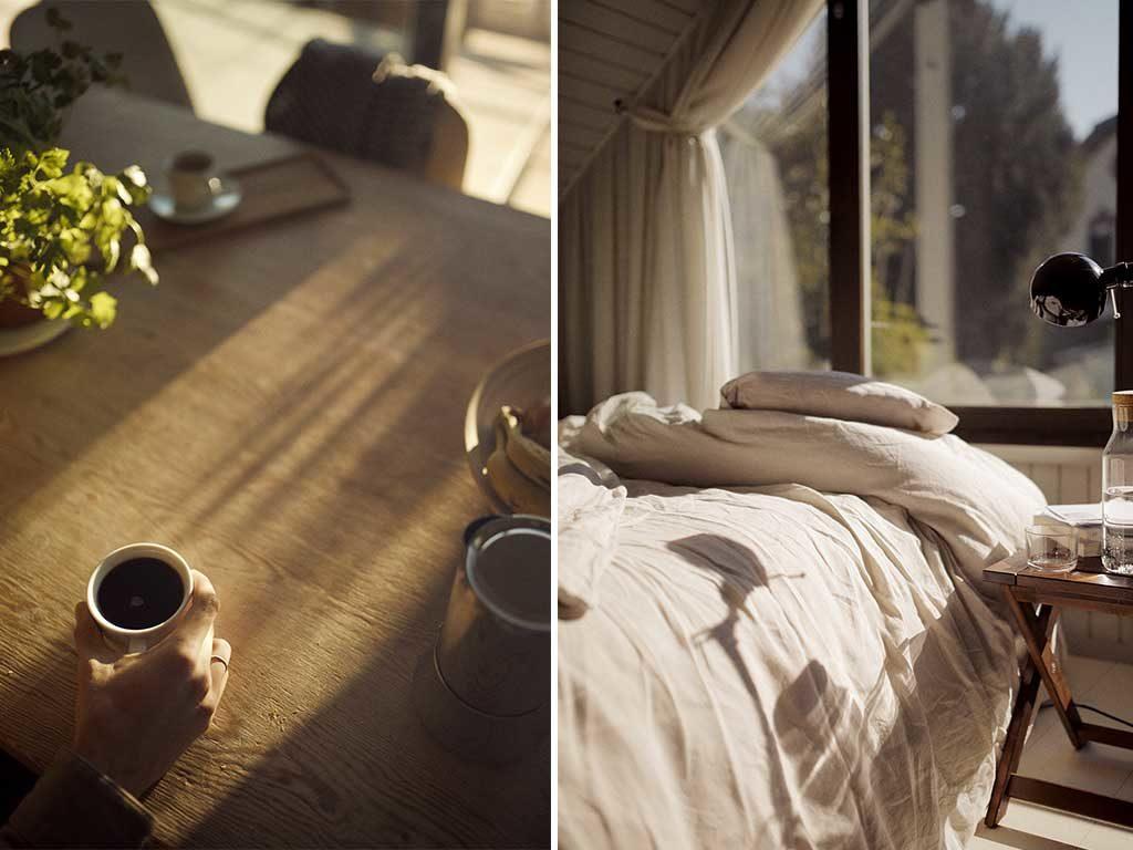 sole casa tavolo colazione camera letto