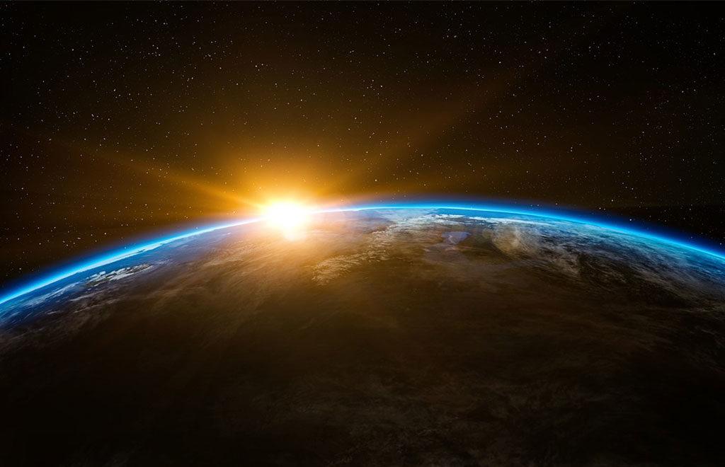 sorgere sole pianeta terra