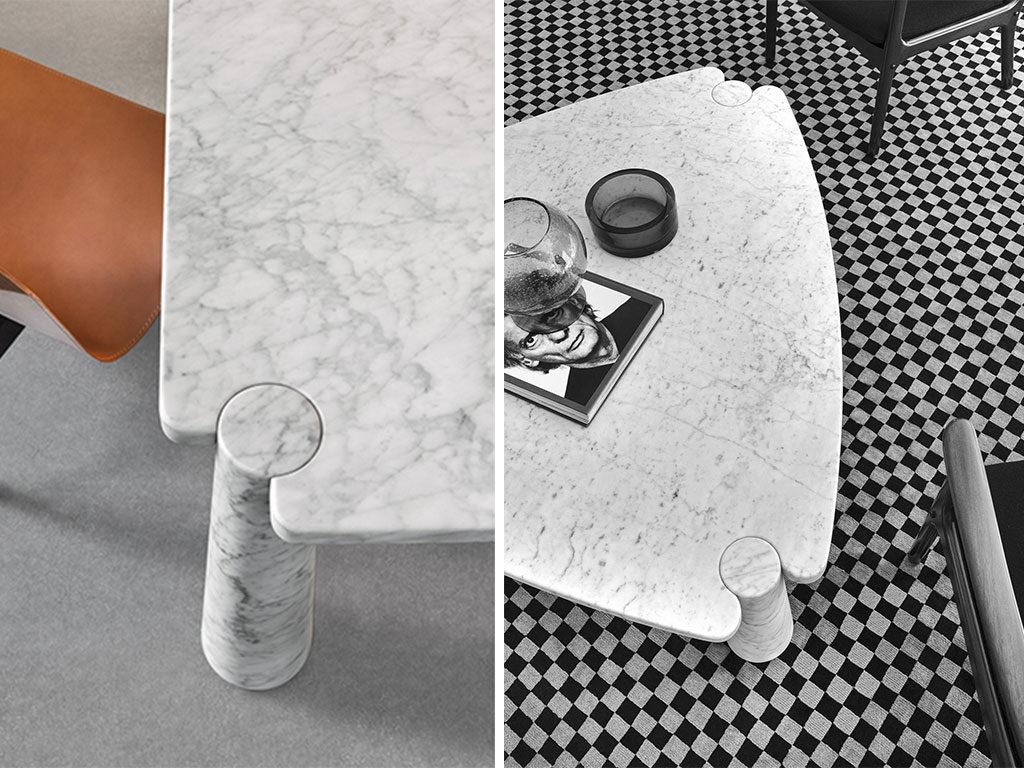 tavoli marmo incastro gambe