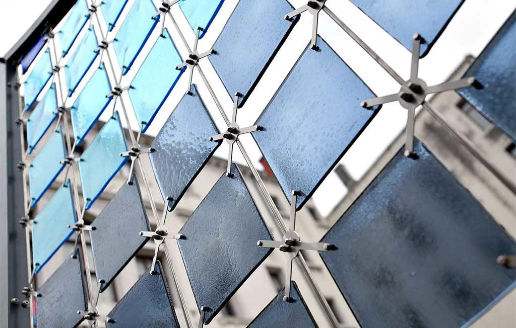 tessere vetro installazione venini