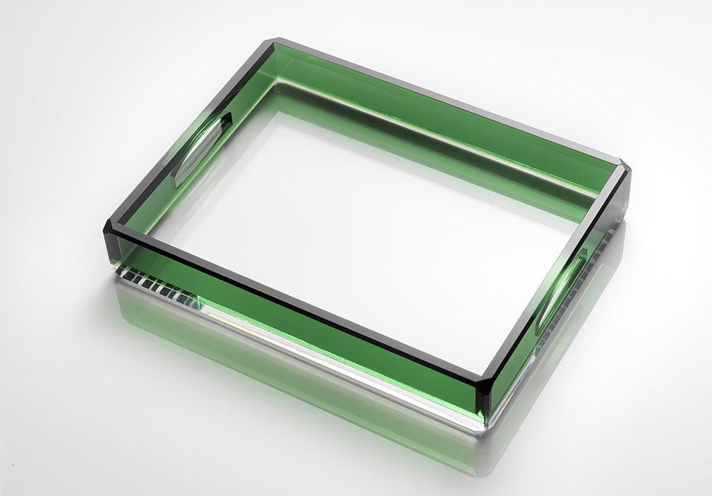 vassoio cristallo sintetico