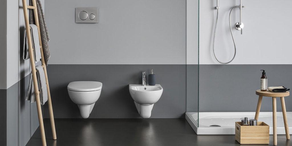 bagno con sanitari sospesi