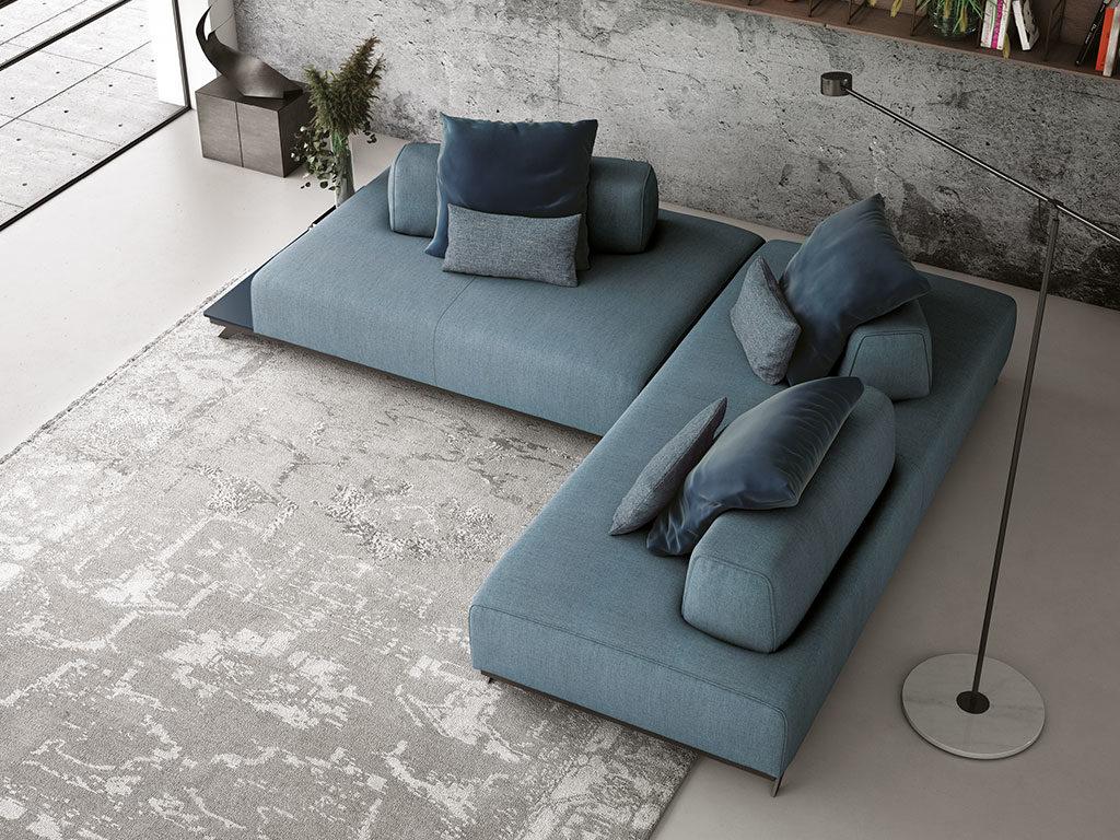 divano componibile tessuto