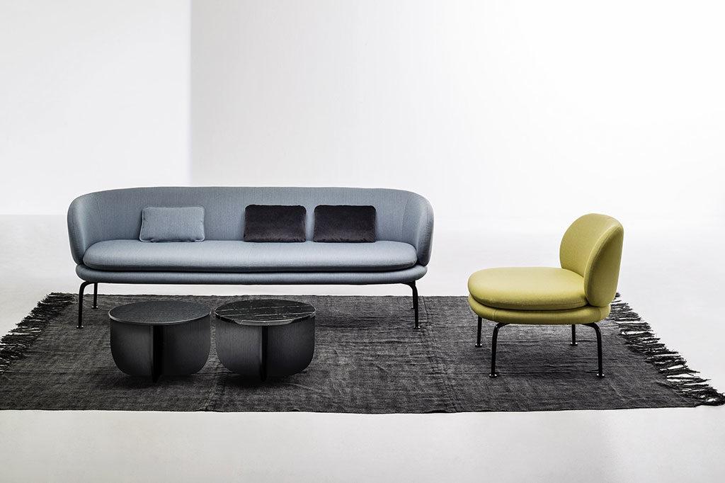 divano grigio azzurro minimal