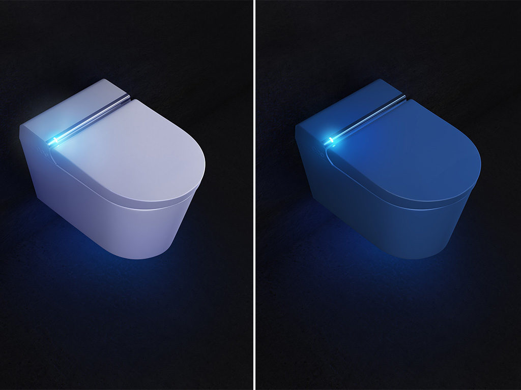 illuminazione led smart toilet