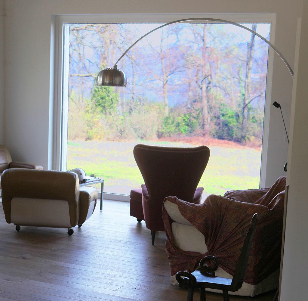 interno casa passiva living