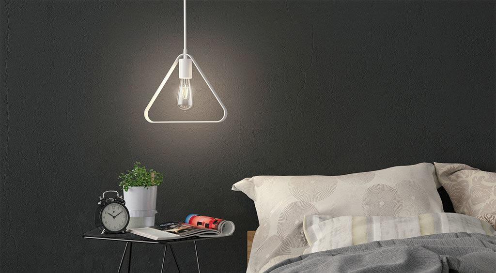 lampada sospensione triangolare led