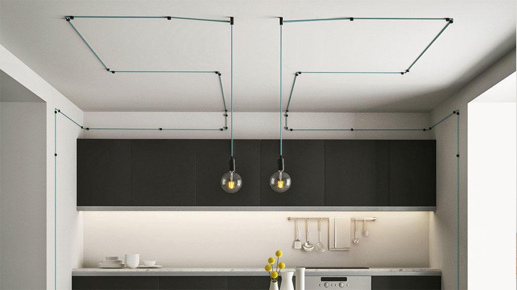 lampade sospese cucina cavi elettrici