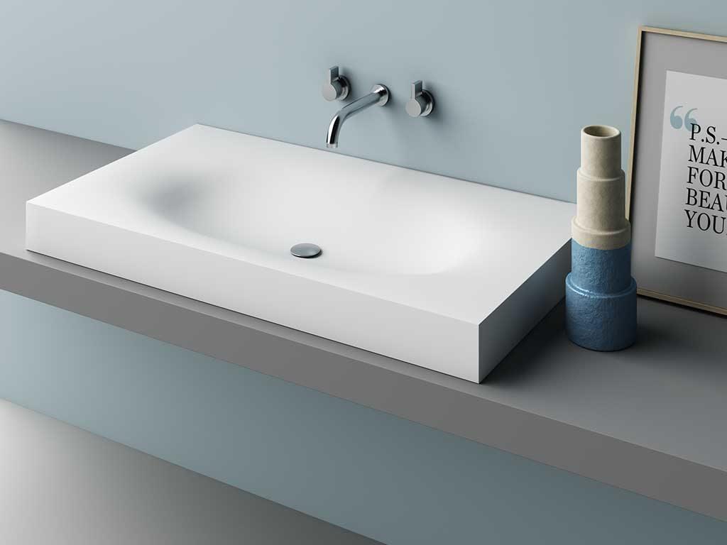 lavabo soprapiano corian