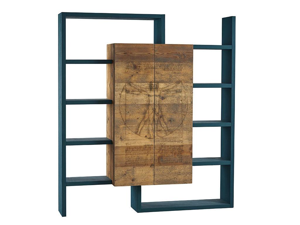libreria legno contenitore centrale