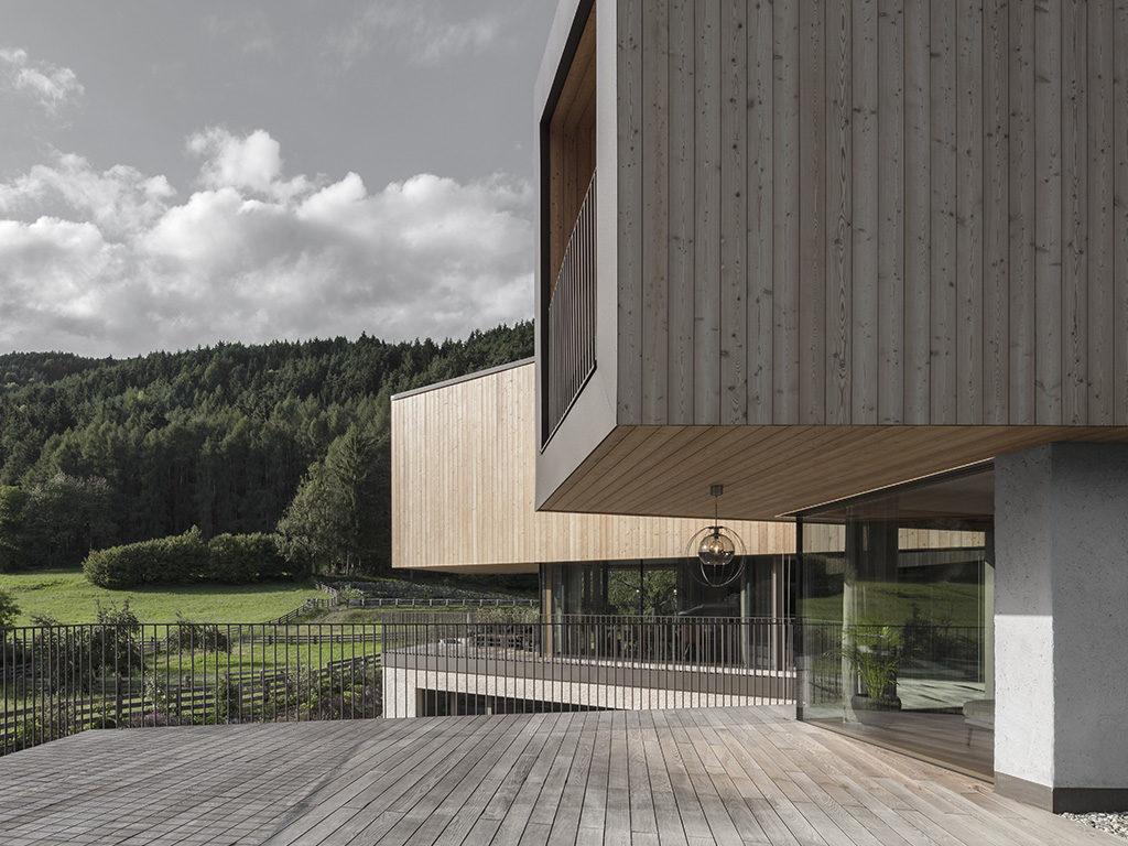 loggia coperta esterno casa legno