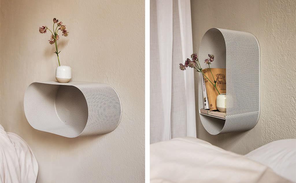 mensola e comodino da parete