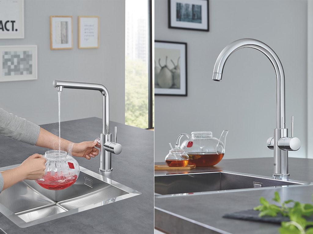 rubinetto per la cucina touch