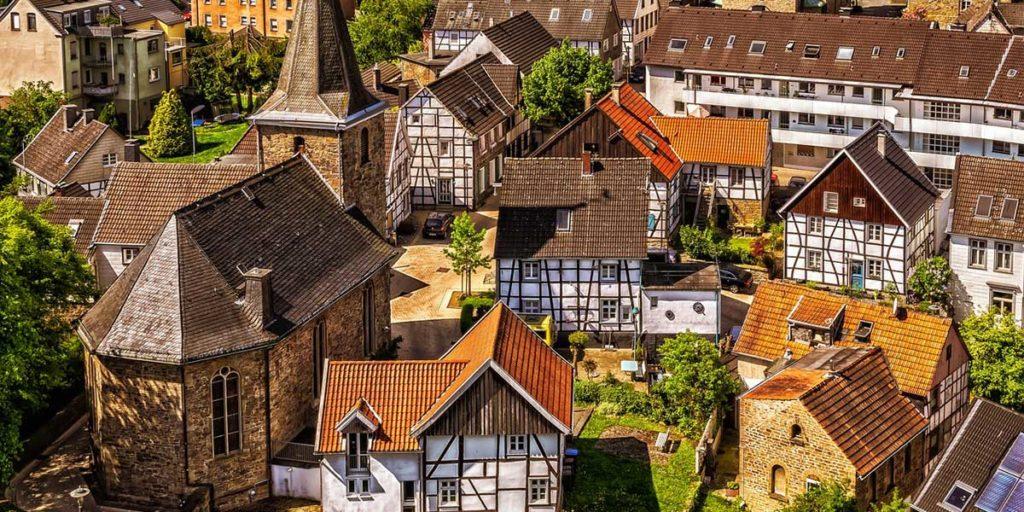panoramica citta case