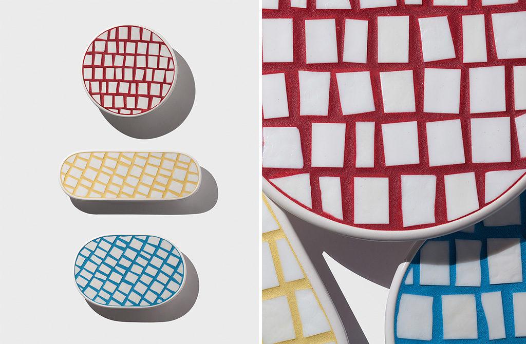 piatti decorativi mosaico