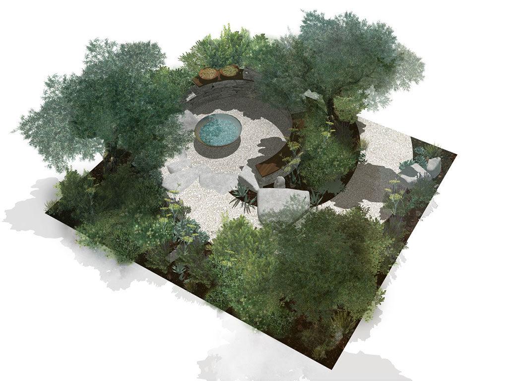 progetto verde giardino produrre acqua