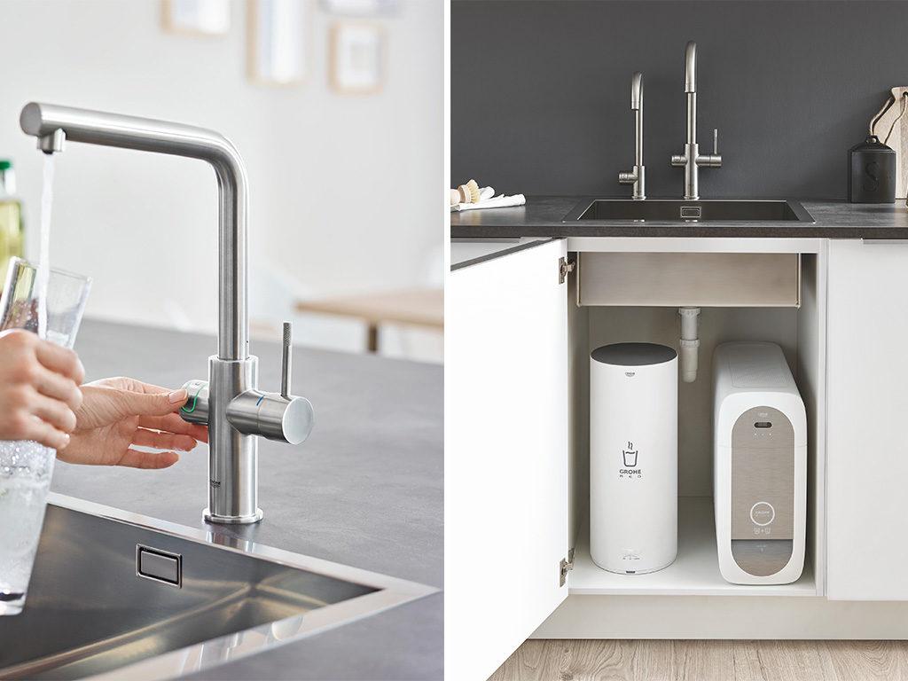 rubinetto cucina acqua calda