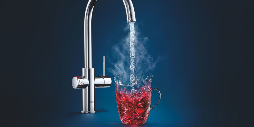 rubinetto miscelatore cucina acqua calda