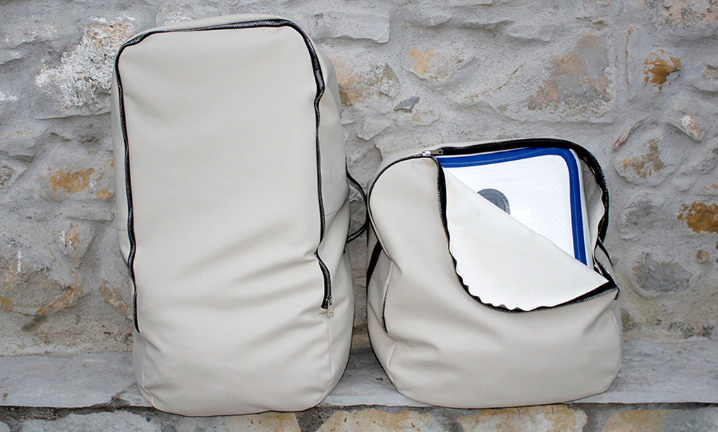 sacche trasporto tavolino sgabelli