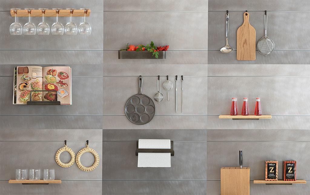 schienale cucina per appendere accessori