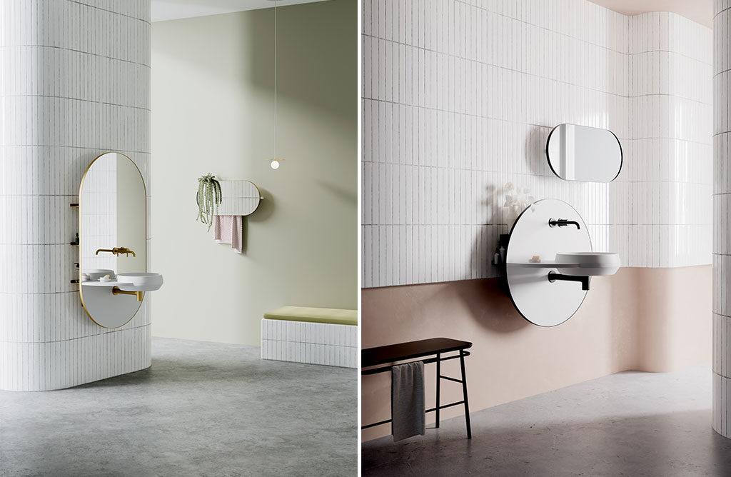 specchio bagno lavabo integrato