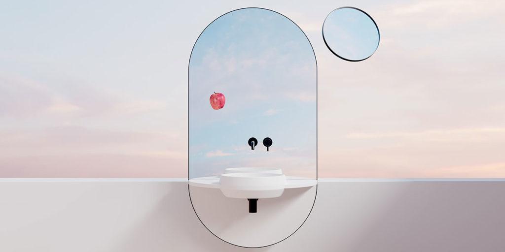 specchio bagno multifunzione