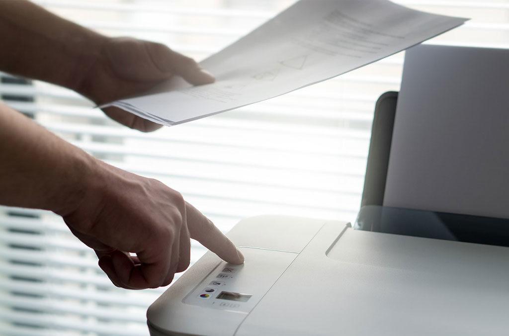 stampante utilizzo carta