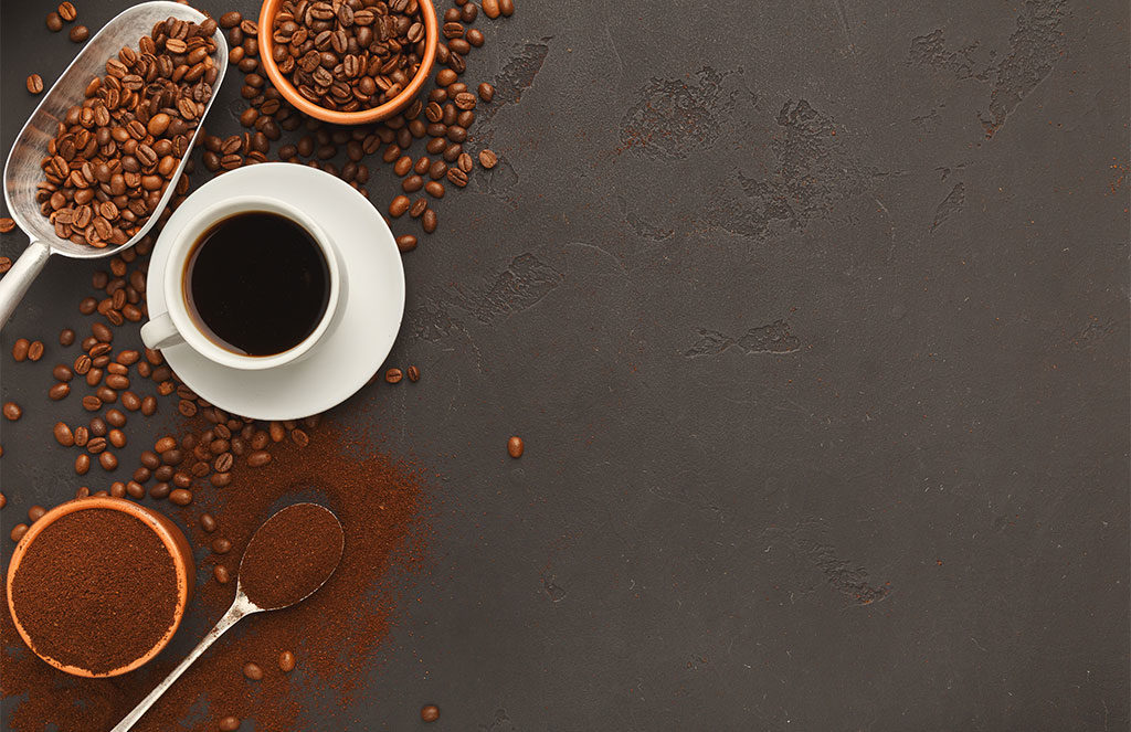 tazzina caffe grani e macinato