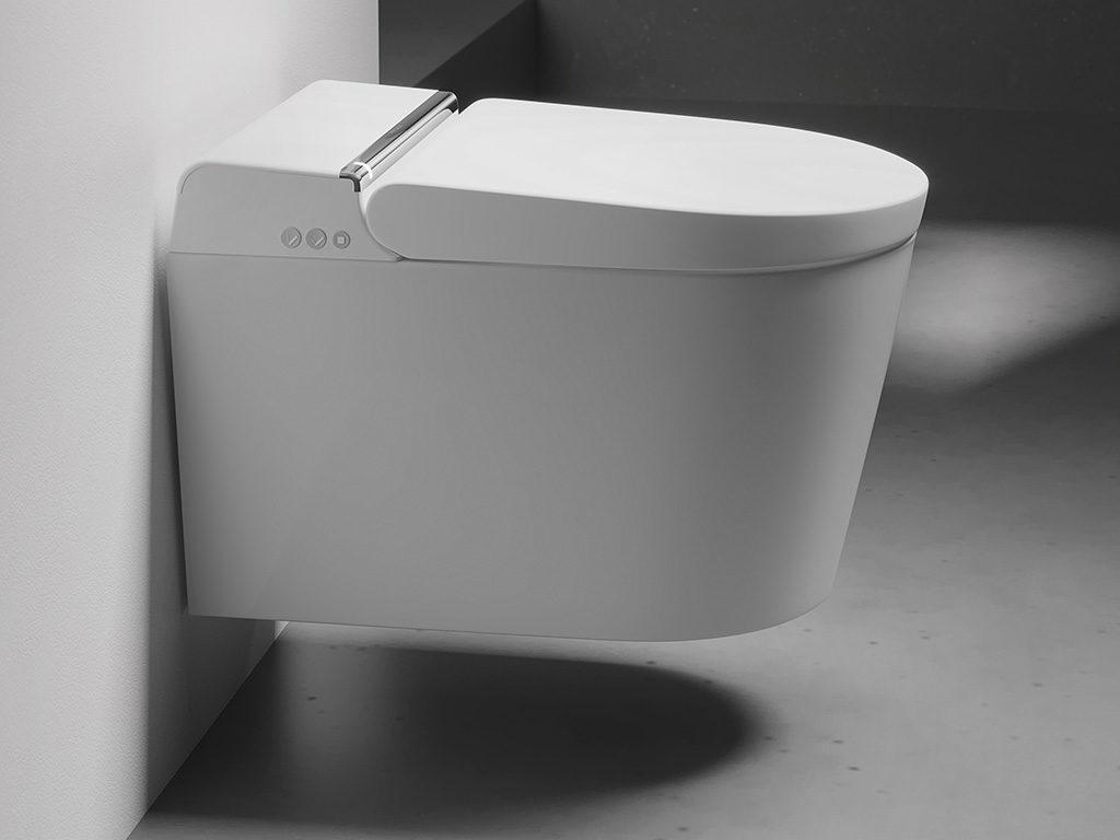 smart toilet sospesa comandi lato