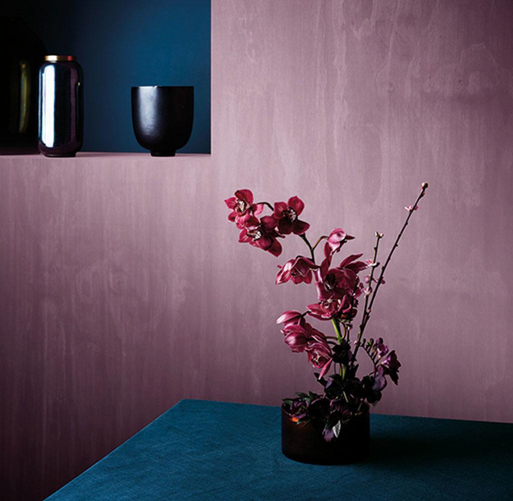 colore pareti pastello melanzana