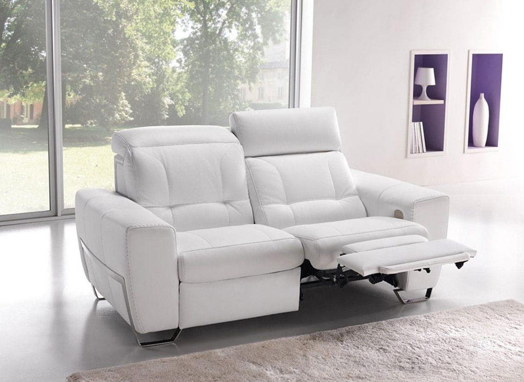 divano pelle bianco meccanismo relax