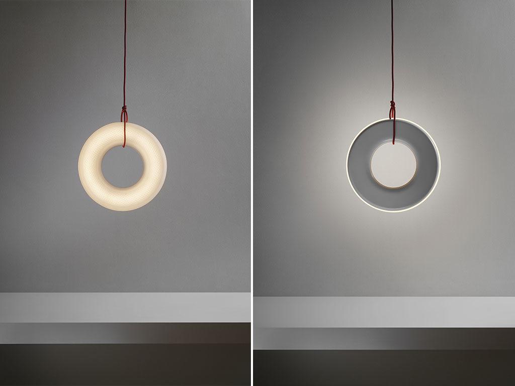 lampada sospensione cerchio led