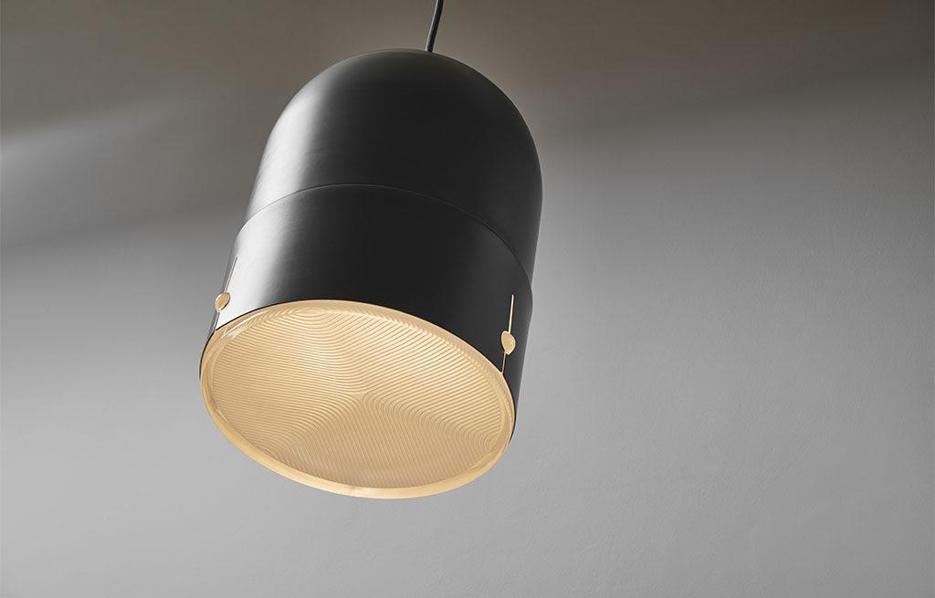 lampada sospensione metallo verniciato