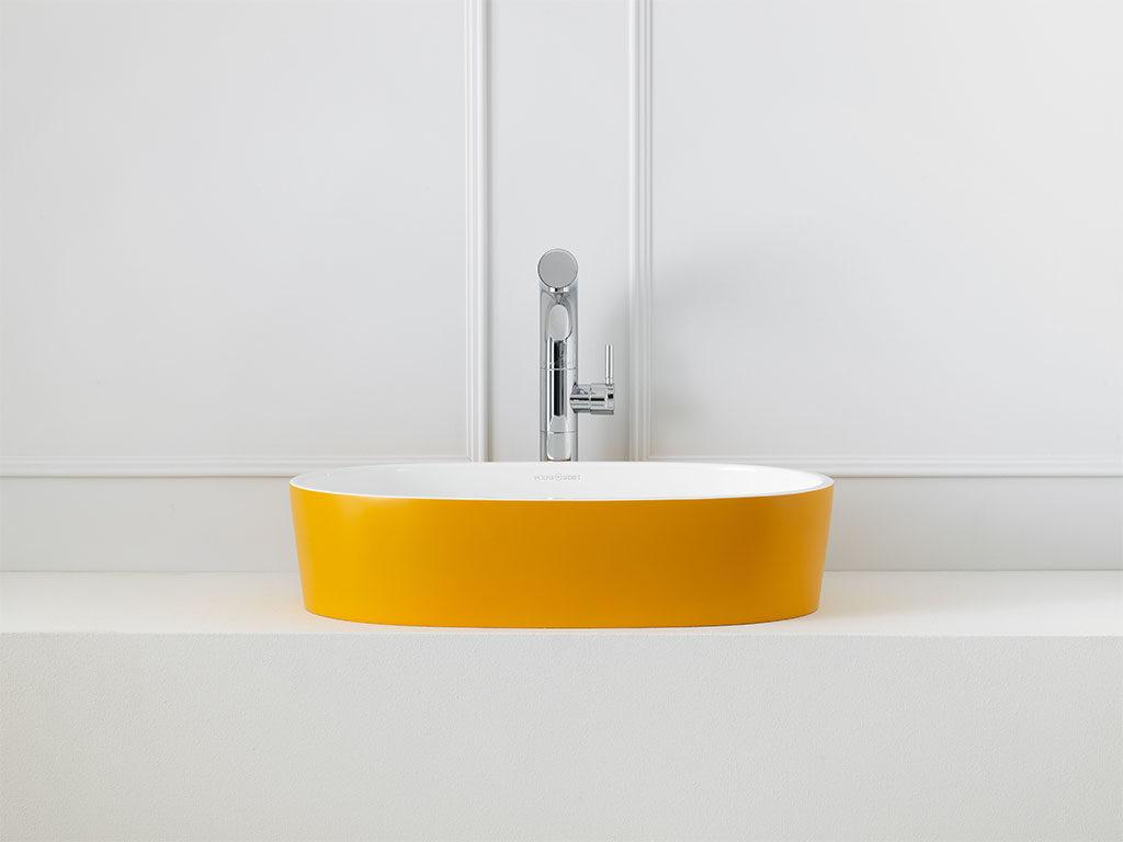 lavabo appoggio colore giallo