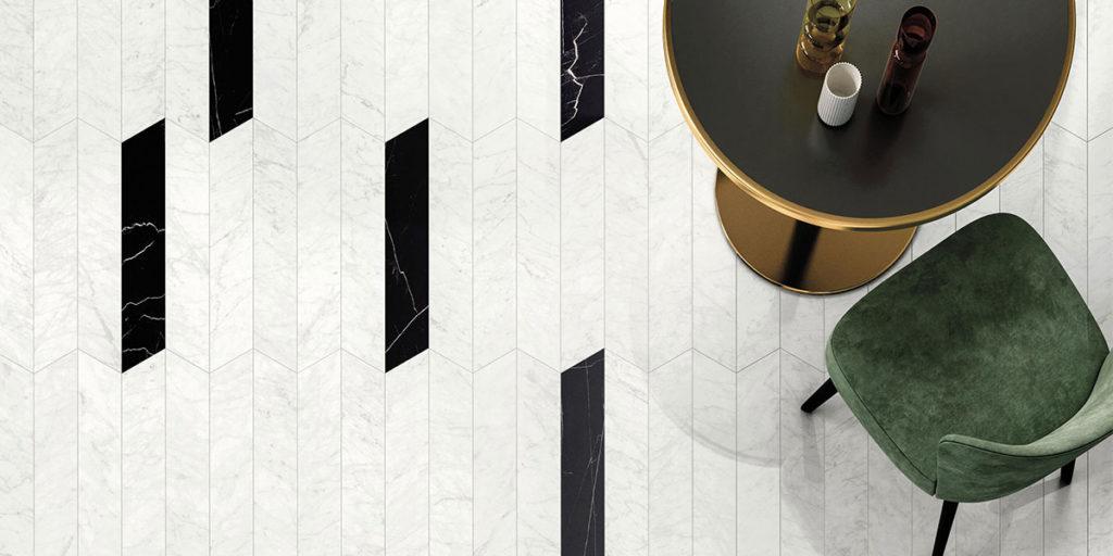 pavimento marmo bianco nero