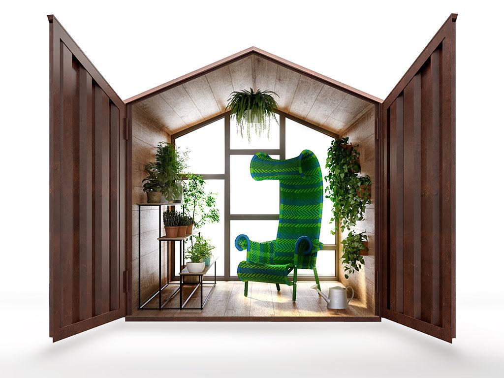 casetta giardino serra verde