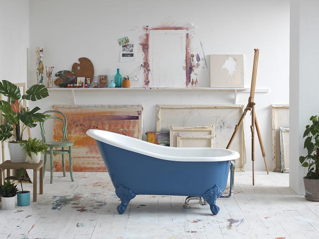 vasca bagno gloss azzurro