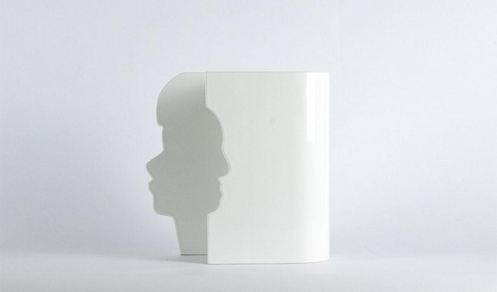 vaso bianco ceramica profilo lui lei