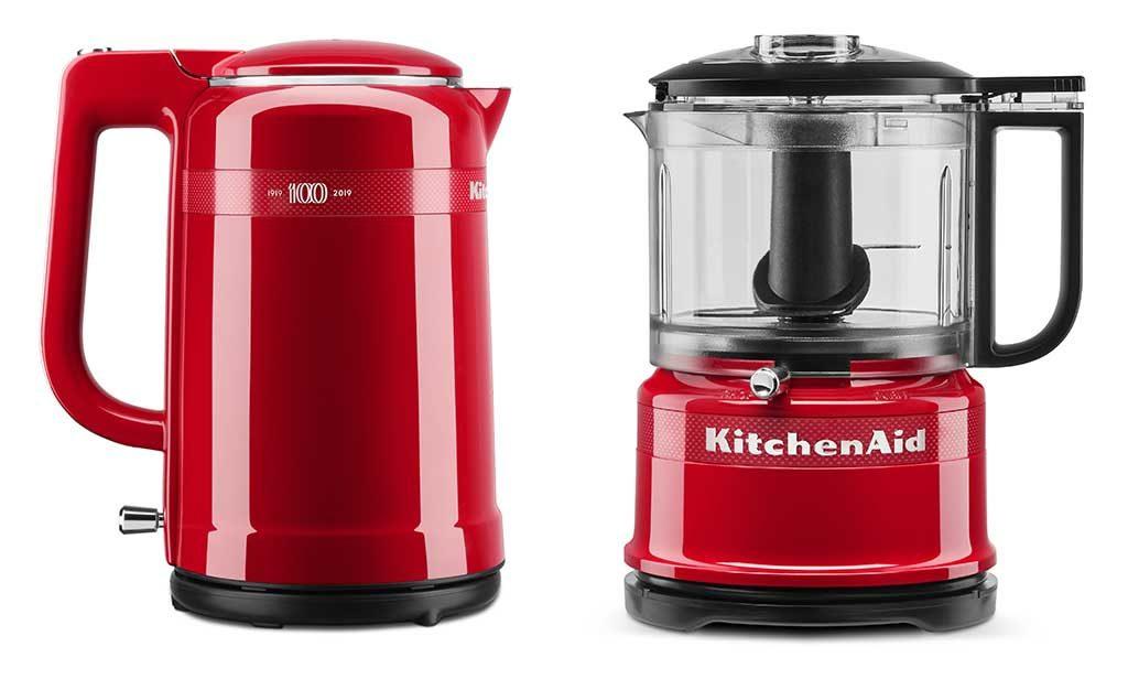 bollitore e food processor rosso