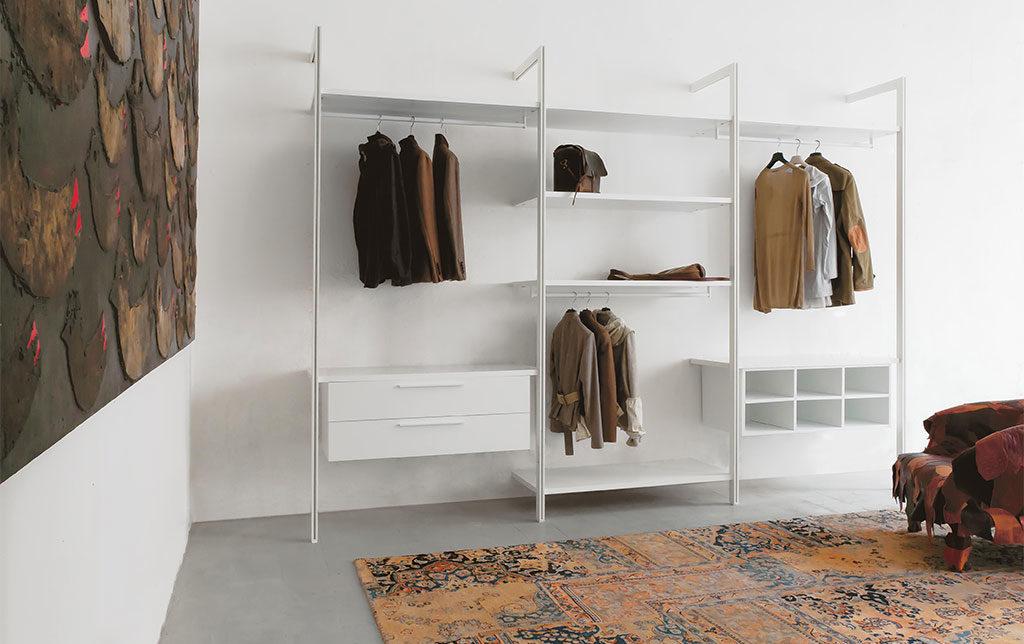 cabina armadio bianco