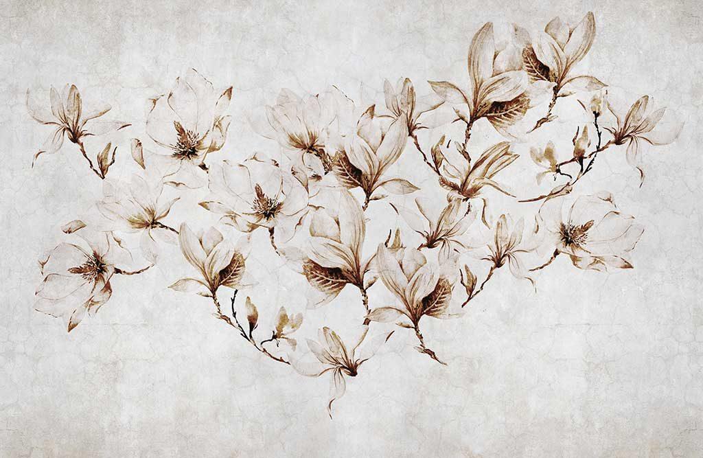 carta parati fiori chiara